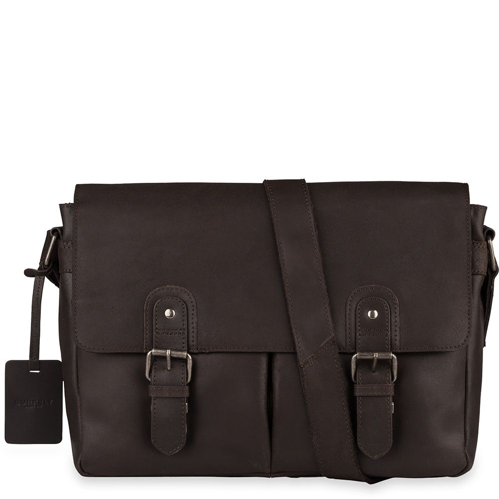 35e619b253f Laptoptas Burkely Glenn Vintage Shoulderbag Classic Brown 14 inch ...