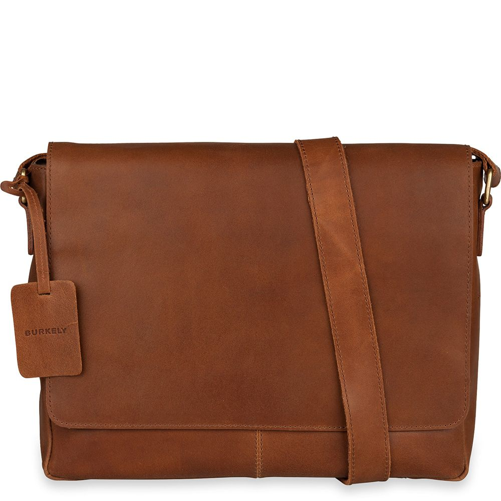 add383a91fd Laptoptas Burkely Juul Vintage Messenger Cognac 14 inch - Trendsmode.nl