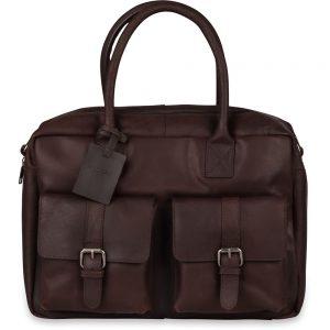 8bd1eb1493e Laptoptas Burkely Finn Vintage Businessbag Classic Dark Brown 14 inch
