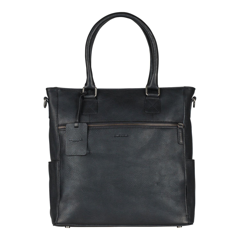 44451224154 Burkely Antique Avery Shopper Black 13.3 inch - Trendsmode.nl