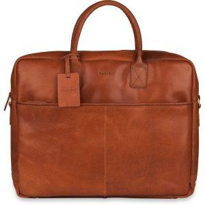 3ea39ef2d78 Laptoptas Burkely Leren Laptoptas 17 inch Fundamentals Vintage Max Big  Worker Cognac