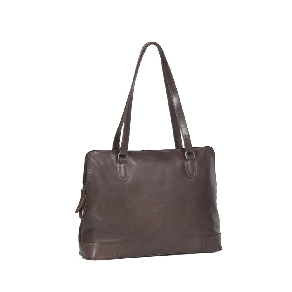 a6ac923d864 Chesterfield Flint Shoulderbag Large Brown - Trendsmode.nl