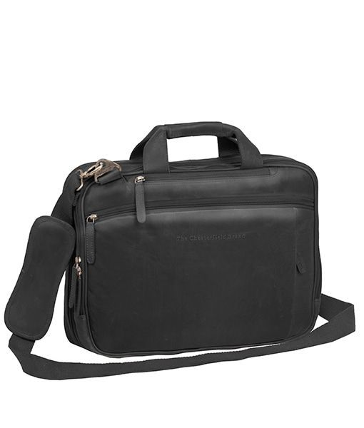 f77a44d1ff4 Chesterfield George Casual Businessbag Black 15 inch - Trendsmode.nl