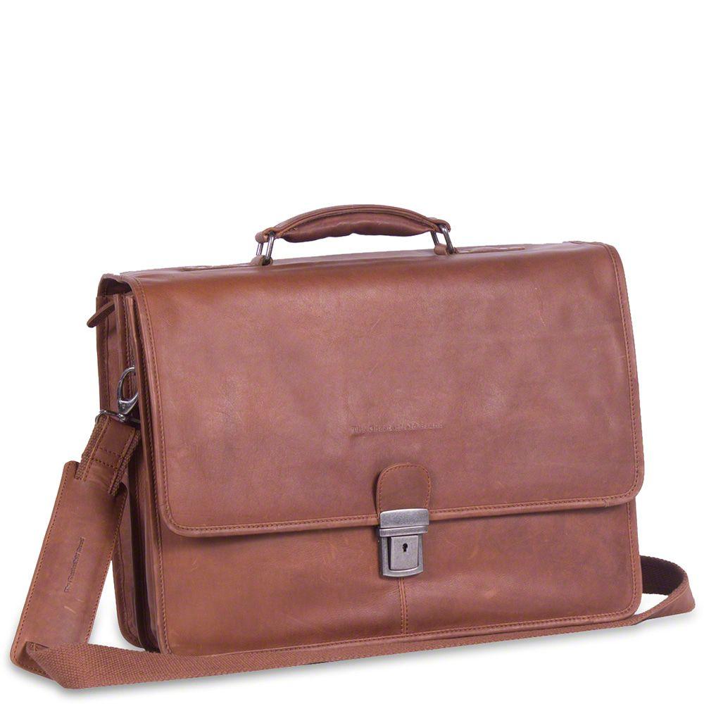 7c1762fc98e Chesterfield Leren Laptoptas Aktetas 15.6 inch Shay Cognac ...