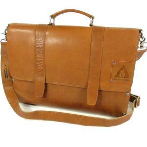 699b0e6fc6d leren Laptoptas 15,6 inch handtas schoudertas met hout Cognac