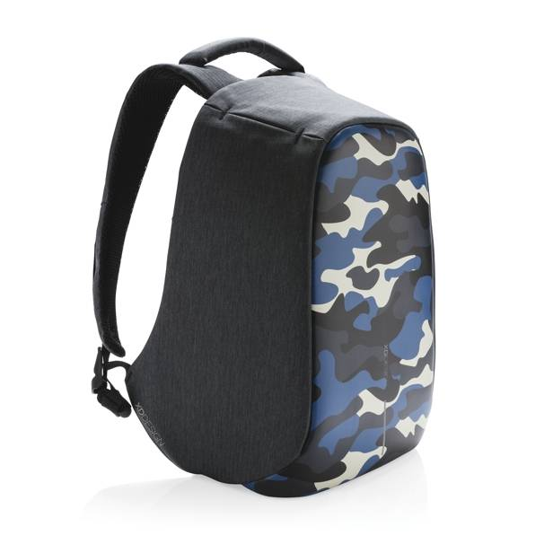 93d22010463 Bobby Compact rugzak anti-theft, Camouflage Blue - Trendsmode.nl