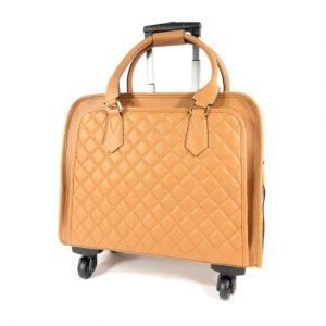 12a1c27967e Fashion damestas laptop travelbag Trolley SAVANE Camel