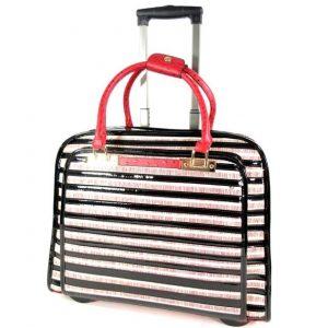 6d2adbc00ed Damestas laptop travelbag Trolley STRIPES Rood