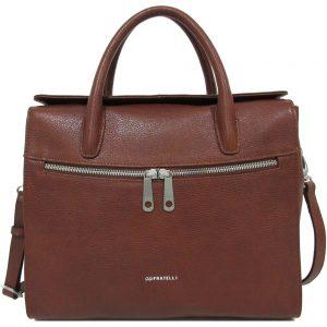 11084410604 Laptoptas Gigi Fratelli Dames Leren Laptoptas / Tablet tas 10 inch Romance  Business ROM8010 Brandy