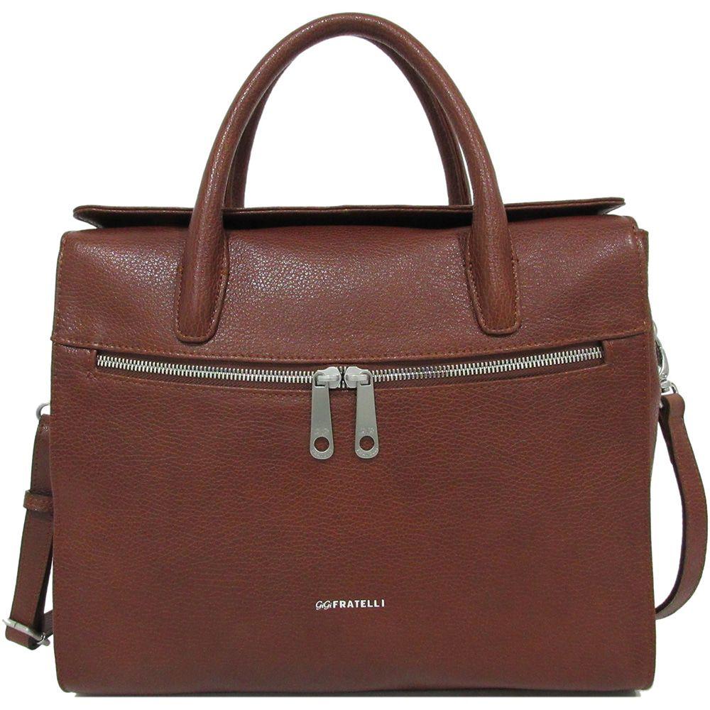 63d626dd507 Laptoptas Gigi Fratelli Dames Leren Laptoptas / Tablet tas 10 inch Romance  Business ROM8010 Brandy