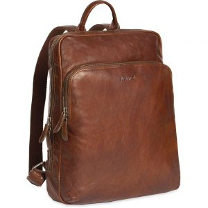 e1312d08a7a Justified Leren Laptop Rugzak 13 inch Everest Cognac