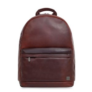 a2c77868e35 Knomo Albion Leather Laptop Backpack Brown 15 inch