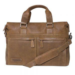 c34204b3f8e Laptoptas Plevier Crunch Leather Business Laptoptas Cognac 15.6 inch